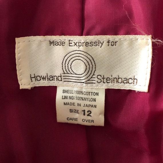 Red Velvet Blazer Jacket Size Medium Vintage 80s - image 10