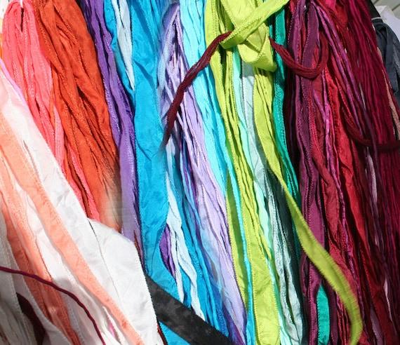50 pcs fée rubans choisissez n'importe la quel couleurs bijoux cordons à la n'importe main teints collier ruban de soie 84c043