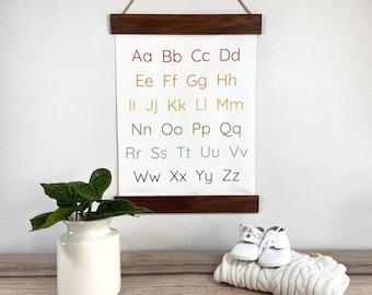 Rainbow Alphabet Nursery Sign. Kids Alphabet Art. ABC Wall Hanging. Alphabet Homeschool Poster, ABC Wall Art. Gender Neutral Wall Decor.