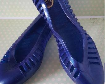 022c77af36f2 Vintage 80 s blue jelly sandals