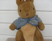Peter Rabbit Beatrix Potter 1970's Stuffed Animal