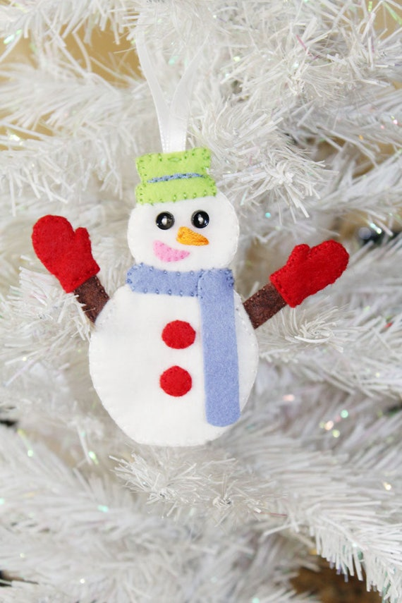 Diy Pdf Snowman Christmas Felt Plush Sewing Pattern Snowman Ornament Easy To Sew Snowman Diy Christmas Pattern