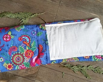 Removable Cover Aromatherapy Neck Pillow Organic Flax Seed Dried Lavender Hot Cold Therapy Microwave Heating Pad Blue Mandala Bird Free Ship