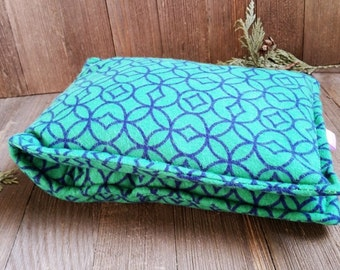Aromatherapy Neck Pillow Flannel Organic Flax Seed Dried Lavender Herbal Scented Therapy Wrap Microwave Heating Pad Green Navy Free Shipping
