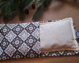 Aromatherapy Eye Pillow Flax Organic Lavender Mint Yoga Savasana Removable Cover Gold Black Relaxation Soothing Microwave Compress