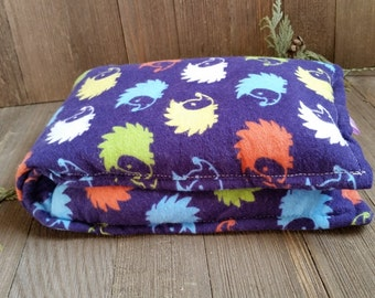 Aromatherapy Neck Pillow Flannel Flax Seed Organic Dried Lavender Herbal Scented Therapy Wrap Microwave Heating Pad Navy Hedgehog Free Ship