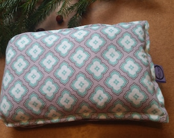 Aromatherapy Neck Pillow Flax Seed Organic Lavender Heating Herbal Therapy Wrap Microwave Heating Pad Stained Glass Print Free Shipping