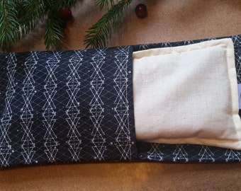 Aromatherapy Eye Pillow Flax Organic Lavender Yoga Savasana Removable Cover Black White Constellation Star Relaxation Microwave Compress