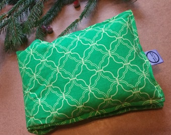 Aromatherapy Neck Pillow Flax Seed Organic Lavender Heating Herbal Therapy Wrap Microwave Heating Pad Green Yellow Geometric Free Shipping
