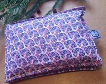 Aromatherapy Neck Pillow Flax Seed Organic Lavender Heating Herbal Therapy Wrap Microwave Heating Pad Purple Geometric Free Shipping