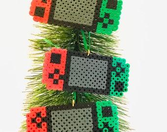 Nintendo switch style Christmas ornaments, set of three, stocking stuffers, gamer Christmas gift, Nintendo Christmas, geek gifts, smash bros
