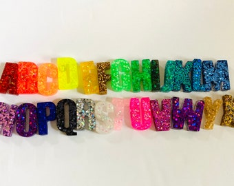 Alphabet resin magnets-chunky resin letters-A-Z-sensory play-fridge letters-learn your letters- letter magnets- homeschooling- 26 letters