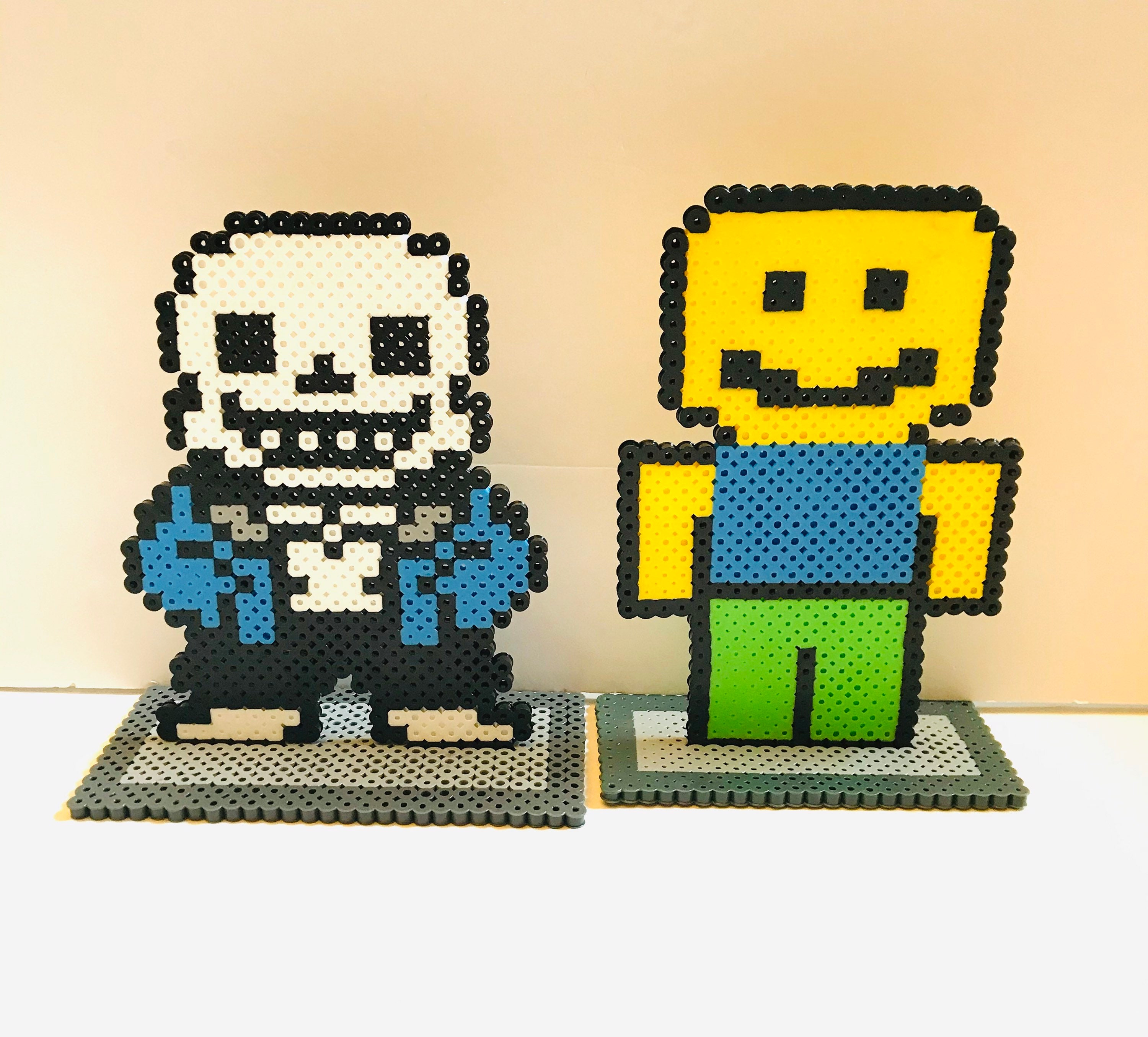 Roblox Themed Standing Characters NOOB and SANS Roblox   Etsy