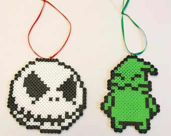 Nightmare before Christmas ornaments – set of two characters – jack Skellington - Oogie boogie man- Disney Christmas ornaments