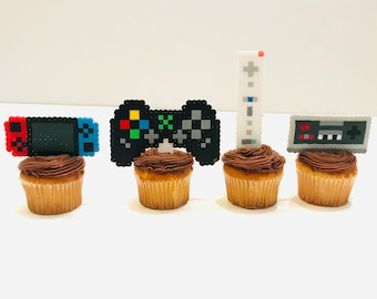 Game controller party favors/Nintendo switch style birthday cake topper/Gamer party/Xbox/Wii/video game birthday/PlayStation/ cake toppers