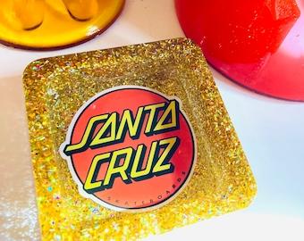 Santa Cruz skateboards logo tray, skater gift, guy gift, Christmas gift, stocking stuffers, skater girl, skate stickers, handmade gifts
