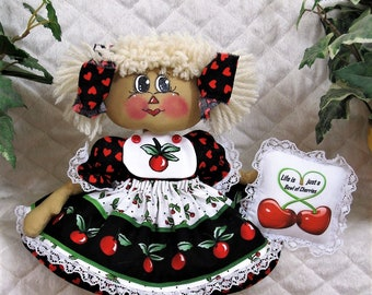 """Primitive Raggedy 13"""" ** """"LiFe is JuSt a BoWl oF ChErriEs""""! RaGGeDy AnniE ** CuTe!"""