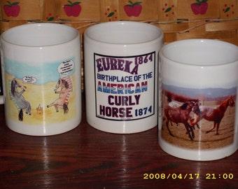 Curly Horse Mugs