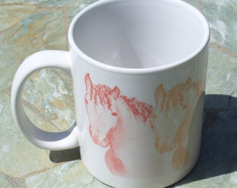 Curly Horse Mug   Color Mug