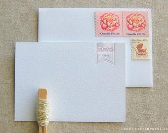 letterpress merci cards