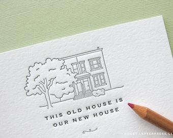 custom letterpress moving announcements