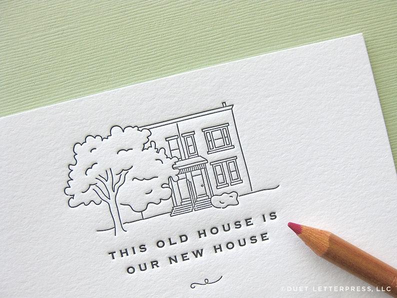 custom letterpress moving announcements image 0