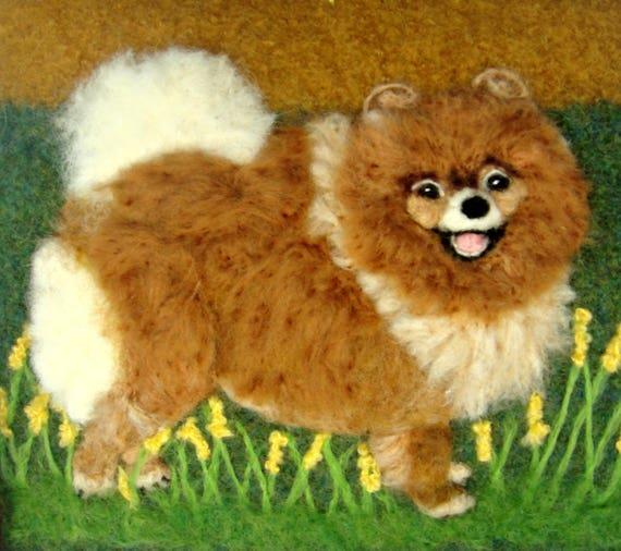 Pomeranian Dogfelted Pursedog Purse Felted Dog Purse Etsy