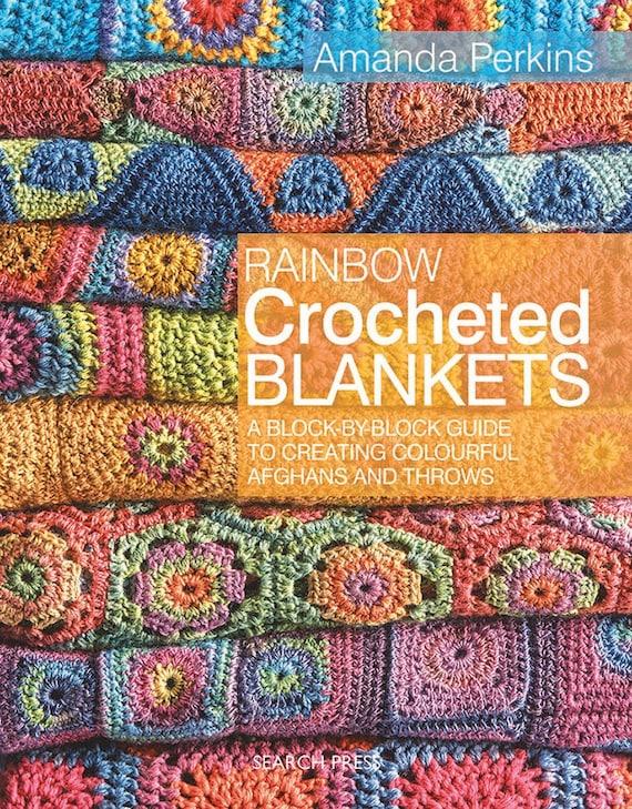 Regenboog Crocheted Dekens Haak Breiboek Etsy