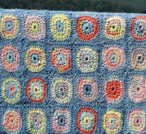 Circles Crochet Afghanblanket Pdf Crochet Pattern Etsy