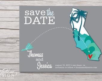 California – Save the Date – San Diego, Palm Springs Destination Wedding – Wedding Save the Dates