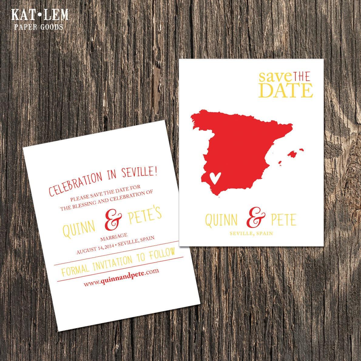 Spain Save the Date Marbella Madrid Mallorca Seville | Etsy