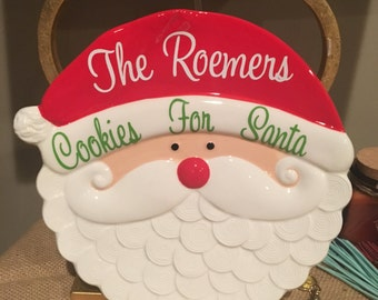 Personalized Cookies for Santa Plate with your Family Name
