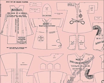 Paperdoll C7568-Pink Riley Blake & J. Wecker Frisch Clothes Sewing Fabric Priced @ 1/2 Yd.