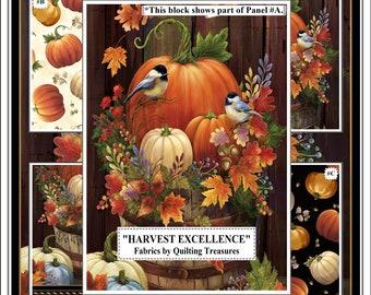 "Quilting Treasures ""Harvest Elegance"" Fall Autumn Pumpkins Fabrics"