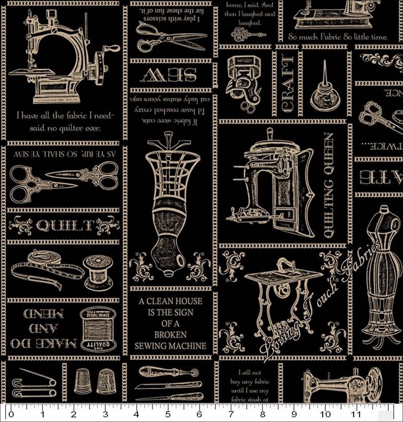 FABRIC Quilting Treasures ~ THIMBLE PLEASURES ~ Dan Morris 24157 J by 1//2 yd