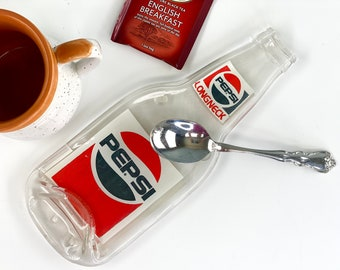 Vintage Longneck Pepsi Cola Bottle Spoon Rest, 1970s Collectible