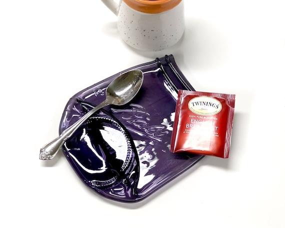 Melted Blue Ball Mason Jar Spoon Rest Farmhouse Decor Coffee Spoon Holder