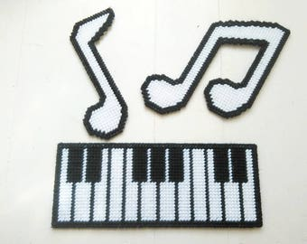 Piano Keyboard, Music Notes, Piano Wall Hanging, Piano Decor, Piano Art, Music Art, Music Gift, Music Teacher Gift, Teen Gift, Ready To Ship