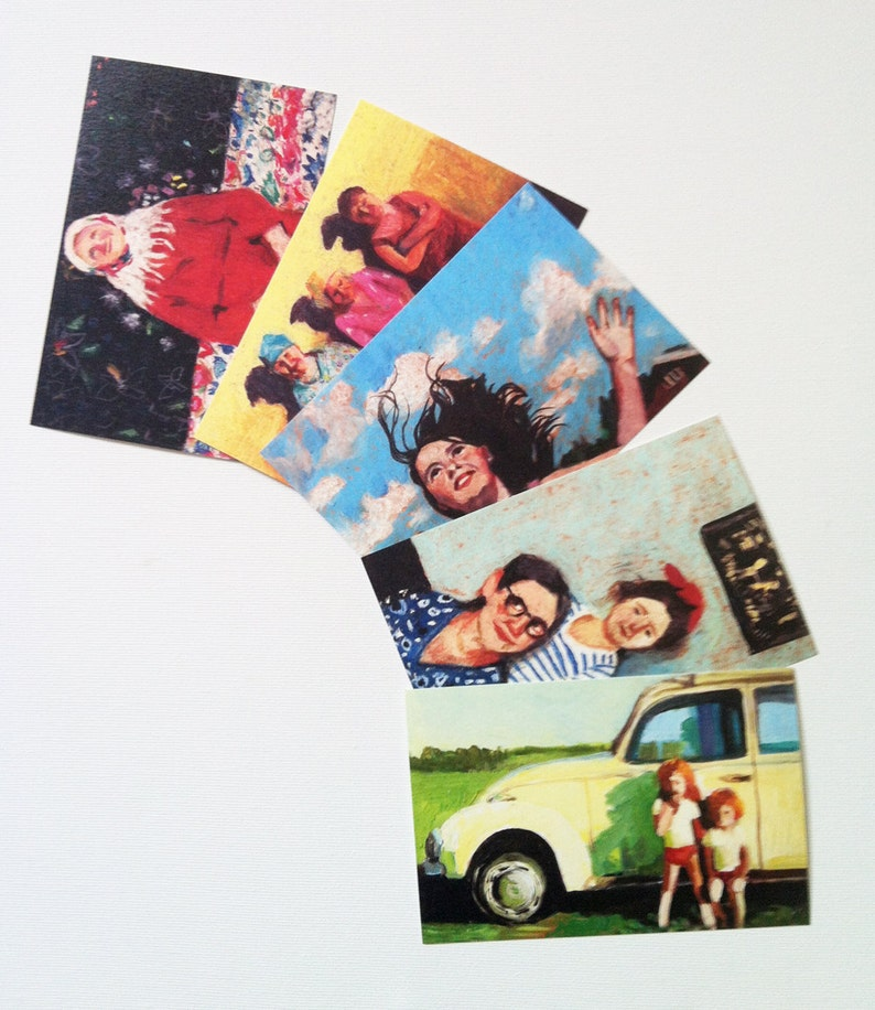 set of 13 printed postcards 4x6 inch card-paper goods Printed on a fine quality 250 gram paper