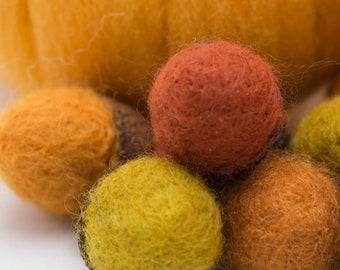 Needle Felted Acorns Large Wool Acorns Dozen Any Color
