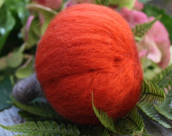 Needle Felted Pumpkin Sassy Decoration