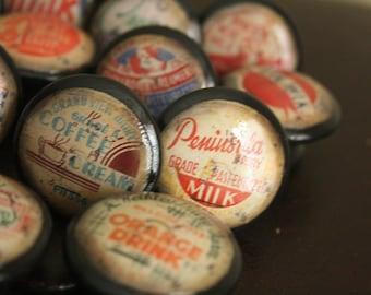 Vintage Knobs Old Fashion Milk Tops 21 pc set Door Pull