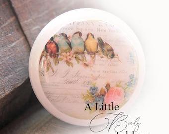 Vintage Knobs Birds to Sing to Me 10 pc set