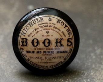 Vintage Knobs The Books Door Pull