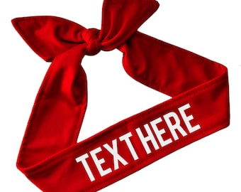 Design Your Own Sport TIE BACK Cotton Headband Customizable with Your  Choice of Colors   VINYL Text - Team Name Headbands d0ce182fcc9