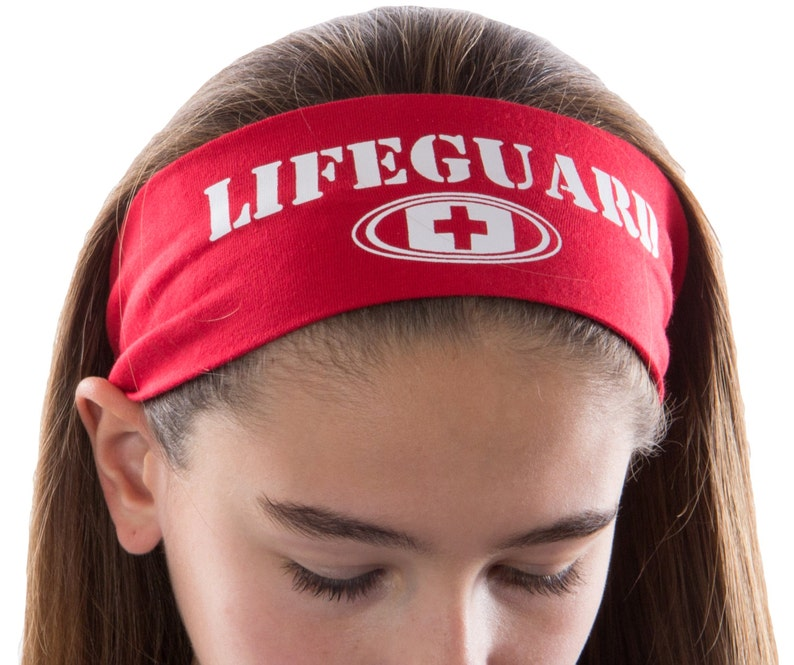 Lifeguard Cotton Stretch Headband  Funny Girl Designs image 0