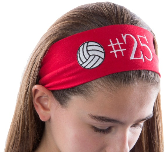 Lot of 9 Custom Embroidered Personalized Team Volleyball Softball Headbands c109835b707