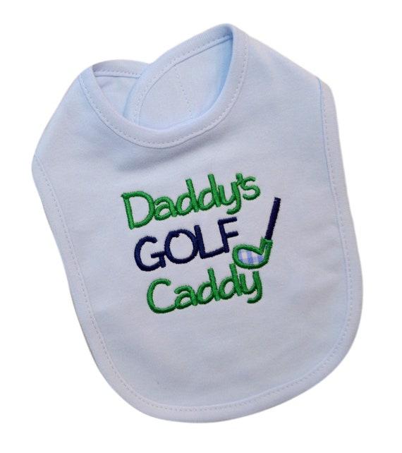 Baby Bib-Daddys Caddy-Baby Bib-Cotton Baby Bib-Embroidered Baby Bib