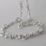 For  Catherine. Neela Sterling Silver Necklace. Rustic Knots Chain. Aroluna Handmade Jewelry