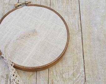 Hopsack Linen Ring Bearer Hoop  - 4 or 6 inch
